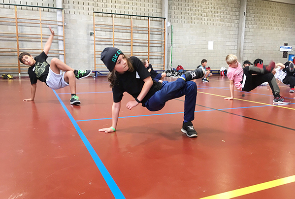 verloop van een breakdance les